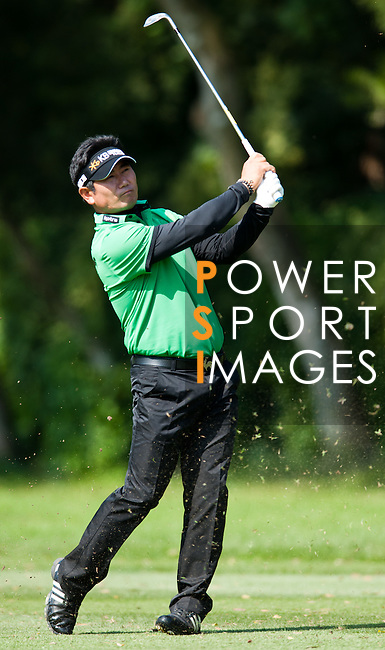 Y.E Yang in action during Round 2 of the UBS Hong Kong Golf Open 2011 at Fanling Golf Course in Hong Kong on 1st December 2011. Photo © Andy Jones / The Power of Sport Images
