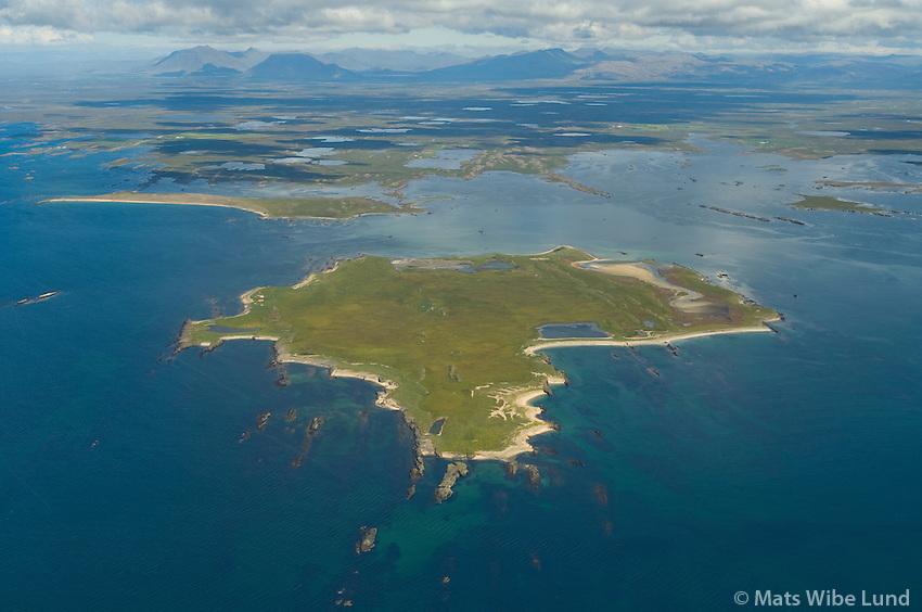 Hjörsey séð til norðurs, Borgarbyggð  /  Hjorsey island viewing north. Borgarbyggd