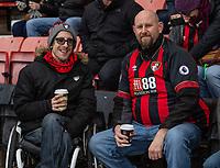 Bournemouth fans<br /> <br /> Photographer David Horton/CameraSport<br /> <br /> The Premier League - Bournemouth v Liverpool - Saturday 8th December 2018 - Vitality Stadium - Bournemouth<br /> <br /> World Copyright © 2018 CameraSport. All rights reserved. 43 Linden Ave. Countesthorpe. Leicester. England. LE8 5PG - Tel: +44 (0) 116 277 4147 - admin@camerasport.com - www.camerasport.com