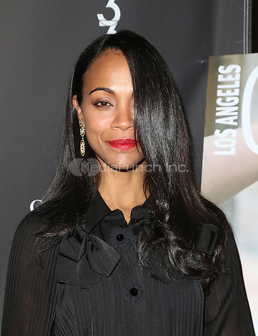 Los Angeles, CA - February 16: Zoe Saldana, At Los Angeles Confidential Celebrates Winter Issue With Cover Star Zoe Saldana, At 3033 Wilshire In California on February 16, 2017. Credit: Faye Sadou/MediaPunch