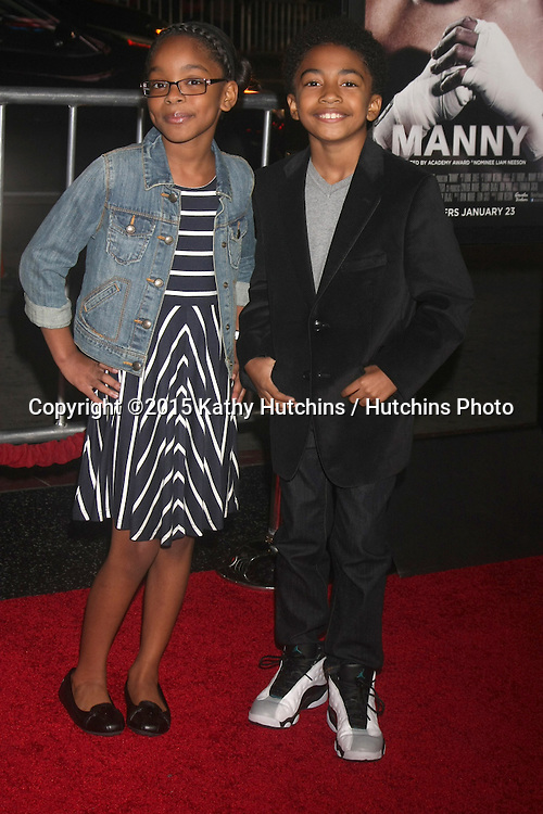 "LOS ANGELES - JAN 20:  Marsai Martin, Miles Brown at the ""Manny"" Los Angeles Premiere at a TCL Chinese Theater on January 20, 2015 in Los Angeles, CA"