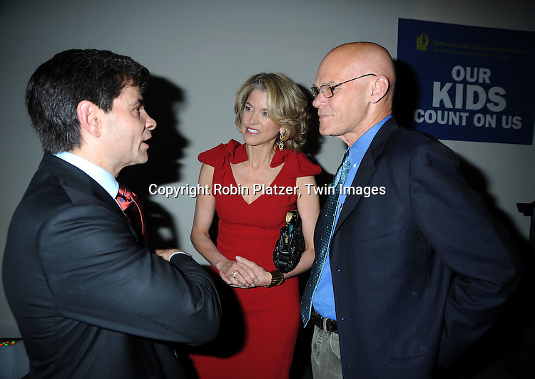 James Carville, Paula Zahn and George Stephanopoulos attending The  National Center for Learning Disabilities 33rd Annual Benefit Dinner on April 28, 2010 at Tribeca Rooftop in New York City.
