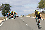 Team Jumbo-Visma get caught behind in the 2nd group during Stage 17 of La Vuelta 2019  running 219.6km from Aranda de Duero to Guadalajara, Spain. 11th September 2019.<br /> Picture: Luis Angel Gomez/Photogomezsport | Cyclefile<br /> <br /> All photos usage must carry mandatory copyright credit (© Cyclefile | Luis Angel Gomez/Photogomezsport)