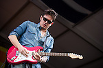 John Mayer performs during the New Orleans Jazz & Heritage Festival in New Orleans, LA.