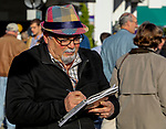 November 3, 2018 : A man handicaps the races on Breeders Cup World Championships Saturday at Churchill Downs on November 3, 2018 in Louisville, Kentucky. Bill Denver /Eclipse Sportswire/CSM
