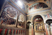 Affreschi di Lorenzo Costa nella chiesa di San Giacomo Maggiore a Bologna.<br /> Frescoes by Lorenzo Costa in the Church of San Giacomo Maggiore, Bologna.<br /> UPDATE IMAGES PRESS/Riccardo De Luca