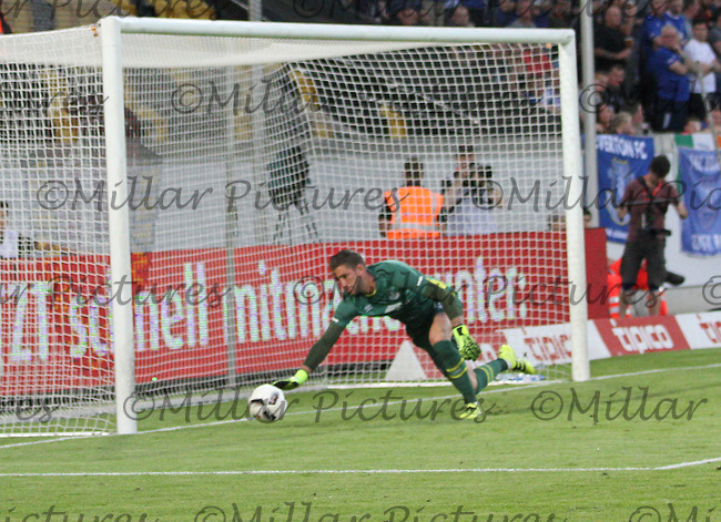 Martin Stekelenburg has to put the ball past for a corner in the Dynamo Dresden v Everton match in the Bundeswehr Karriere Cup Dresden 2016 played at the DDV Stadion, Dresden on 29.7.16.