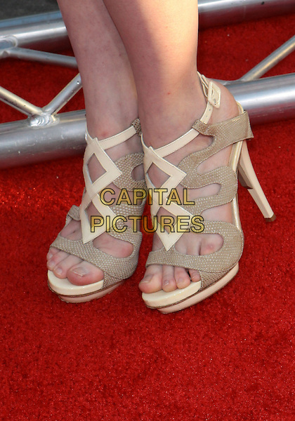 """ASHLEY BELL'S SHOES.""""Killers"""" Los Angeles Premiere - Arrivals  held at The Cinerama Dome, Hollywood, California, USA..June 1st, 2010 .feet heels beige cream ankle.CAP/ADM/TC.©T. Conrad/AdMedia/Capital Pictures."""