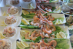 Shrimp and crab salads at fisherman' wharf