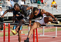 Terrence Trammell(13.39) beating Antwon Hicks(13.45) in the 110m Hurdles at the Adidas Track Classic 2009 on Saturday, May 16, 2009. Photo by Errol Anderson, The Sporting Image.net
