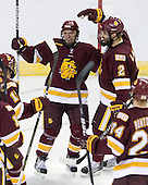 Kyle Schmidt (Duluth - 7), Brady Lamb (Duluth - 2) - The University of Minnesota-Duluth Bulldogs defeated the Union College Dutchmen 2-0 in their NCAA East Regional Semi-Final on Friday, March 25, 2011, at Webster Bank Arena at Harbor Yard in Bridgeport, Connecticut.
