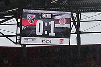 Score board Ingolstadt, 0:1<br /><br />, FC Ingolstadt 04 vs FC ST.Pauli, Football, 2.Bundesliga, 17.02.2018 *** Local Caption *** © pixathlon<br /> Contact: +49-40-22 63 02 60 , info@pixathlon.de