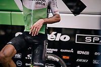 Serge Pauwels (BEL/Dimension Data) warming down post-finish after a hot, dusty day over the cobbles<br /> <br /> Stage 9: Arras Citadelle &gt; Roubaix (154km)<br /> <br /> 105th Tour de France 2018<br /> &copy;kramon