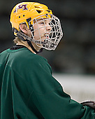 Justin Bostrom - The University of Minnesota Golden Gophers took part in their morning skate at Ralph Engelstad Arena in Grand Forks, North Dakota, on Saturday, December 10, 2005.
