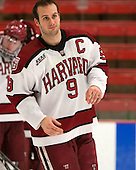 Danny Biega (Harvard - 9) - The Class of 2013 was celebrated following the final Harvard Crimson home game of the season on Saturday, March 2, 2013, at Bright Hockey Center in Cambridge, Massachusetts.