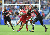 Wales's Luke Morgan is tackled by Kenya's Emonyi Collins Injera<br /> <br /> Kenya Vs Wales - men's placing 5-8 match<br /> <br /> Photographer Chris Vaughan/CameraSport<br /> <br /> 20th Commonwealth Games - Day 4 - Sunday 27th July 2014 - Rugby Sevens - Ibrox Stadium - Glasgow - UK<br /> <br /> © CameraSport - 43 Linden Ave. Countesthorpe. Leicester. England. LE8 5PG - Tel: +44 (0) 116 277 4147 - admin@camerasport.com - www.camerasport.com