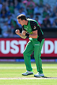10th February 2019, Melbourne Cricket Ground, Melbourne, Australia; Australian Big Bash Cricket, Melbourne Stars versus Sydney Sixers;  Daniel Worrall of the Melbourne Stars celebrates the wicket of James Vince of the Sydney Sixers