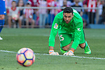 Salvatore Sirigu of Club Atletico Osasuna during the match of La Liga between  Atletico de Madrid and Club Atletico Osasuna at Vicente Calderon  Stadium  in Madrid, Spain. April 15, 2017. (ALTERPHOTOS / Rodrigo Jimenez)