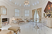 BNPS.co.uk (01202 558833)<br /> Pic: Jackson-Stops/BNPS<br /> <br /> A historic tower home that has hosted royalty, politicians and rock stars has become available to rent for almost £6,000 a month.<br /> <br /> Ruxley Tower was originally built by The Rt Hon Lord Thomas Foley in 1870 for his wife Evelyne.  Queen Victoria is said to have once taken tea in the drawing room.<br /> <br /> In 2009 the quirky property was rented out to Rolling Stones guitarist Ronnie Wood for two years after his split from wife Jo. The 80ft tower is available to rent through agents Jackson-Stops.