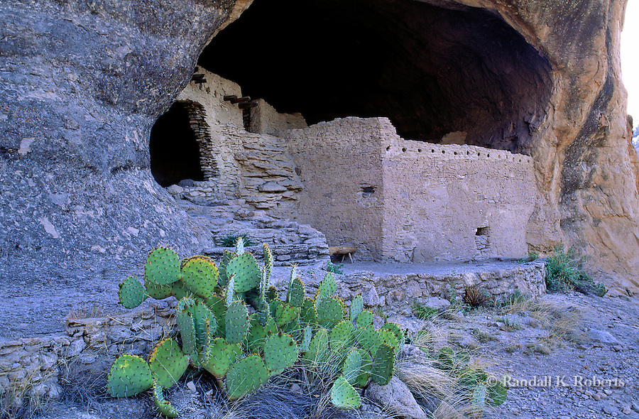 Gila Cliff Dwellings National Monument, New Mexico, former home of the Mogollon People.