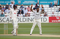 Jeetan Patel of Warwickshire claims the wicket of Matt Quinn during Essex CCC vs Warwickshire CCC, Specsavers County Championship Division 1 Cricket at The Cloudfm County Ground on 15th July 2019