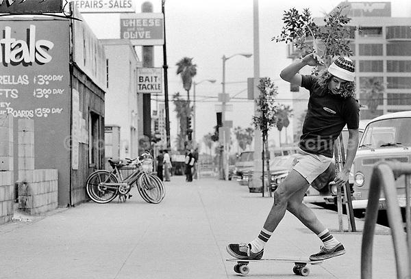 Skaterboard star Tony Alva, Venice California, 1978. Photo by John G. Zimmerman.