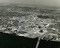1964 March 17..Redevelopment...Downtown South (R-9)..Looking North at Waterfront..VU Photos.NEG# 338.NRHA# 761-A1..