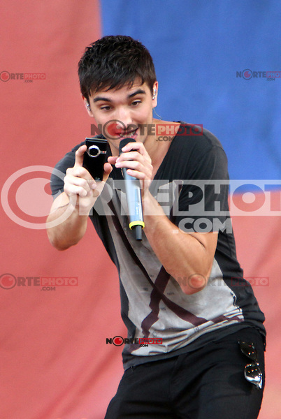August 24, 2012: Tom Parker of The Wanted performs at the Good Morning America Concert Series at Rumsey Playfield Central Park in New York City. &copy; RW/MediaPunch Inc. /NortePhoto.com<br />