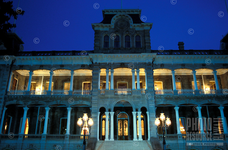 Former residence of Hawaiian royalty King Kalakaua and Queen Liliuokalani, Iolani Palace, the only royal palace in the United States.