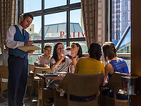 Las Vegas, Nevada.  Patrons Taking a Photo in the Giada Restaurant, The Cromwell Hotel.