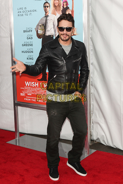 NEW YORK, NY - JULY 14: James Franco attends the 'Wish I Was Here' screening at AMC Lincoln Square Theater on July 14, 2014 in New York City.  <br /> CAP/MPI/COR<br /> &copy;COR/MPI/Capital Pictures