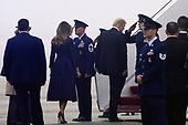 United States President Donald J. Trump and First lady Melania Trump walk to Air Force one before departing from Joint Base Andrews , Maryland on September 11, 2018. The President and First Lady attend the Flight 93 September 11 Memorial Service in Shanksville, PA. <br /> Credit: Olivier Douliery / Pool via CNP