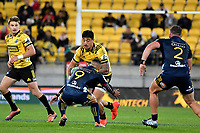 Hurricanes' Ben Lam in action during the Super Rugby - Hurricanes v Highlanders at Westpac Stadium, Wellington, New Zealand on Friday 8 March 2019. <br /> Photo by Masanori Udagawa. <br /> www.photowellington.photoshelter.com