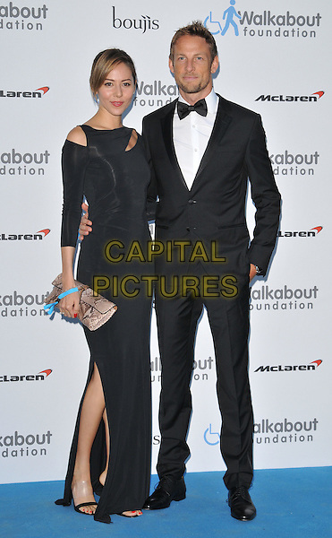 LONDON, ENGLAND - JUNE 27: Jessica Michibata &amp; Jenson Button attend the Walkabout Foundation's Inaugural Gala, Natural History Museum, Cromwell Rd., on Saturday June 27, 2015 in London, England, UK. <br /> CAP/CAN<br /> &copy;Can Nguyen/Capital Pictures