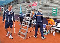 Austria, Kitzbuhel, Juli 14, 2015, Tennis, Davis Cup, Training Dutch team ready to practise<br /> Photo: Tennisimages/Henk Koster