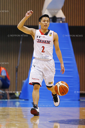 Yuki Togashi (JPN), AUGUST 15, 2015 - Basketball : International friendly match between Japan 65-54 Czech Republic at 2nd Yoyogi Gymnasium in Tokyo, Japan. (Photo by Yusuke Nakanishi/AFLO SPORT)