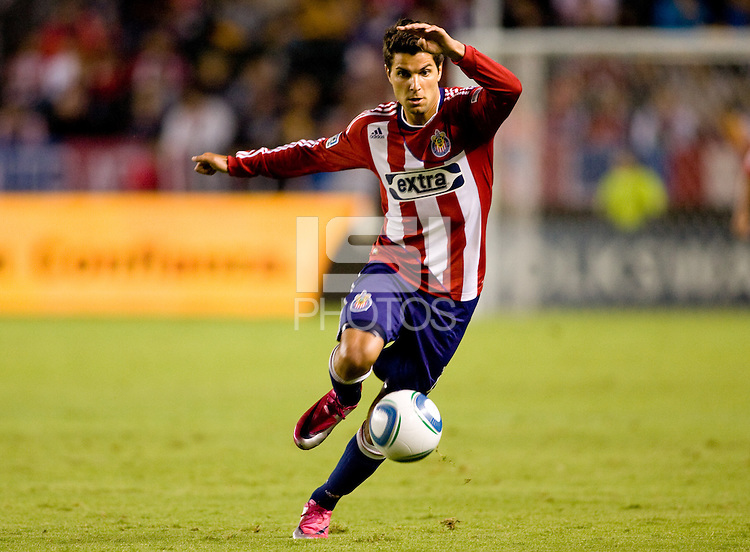 Chivas USA midfielder Sal Zizzo moves with the ball. The Chicago Fire defeated CD Chivas USA 3-1 at Home Depot Center stadium in Carson, California on Saturday October 23, 2010.
