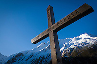 Cross and mountain view
