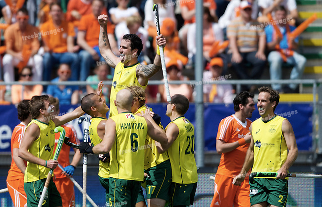 Hockey World Cup 2014<br /> The Hague, Netherlands <br /> Day 14 Men Final Australia v Netherlands<br /> Kieran Govers<br /> <br /> Photo: Grant Treeby<br /> www.treebyimages.com.au