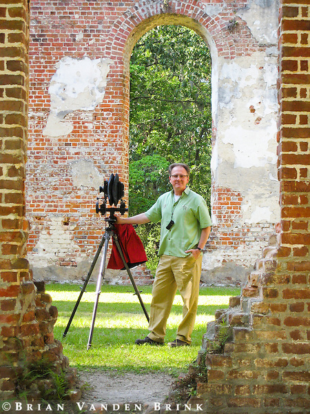 "Brian at the ruins of ""Old Sheldon"", Prince William's Parish Church, Yemassee, South Carolina."