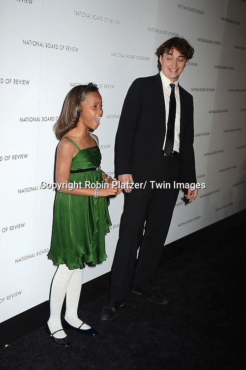Quvenzhane Wallis and director Benh Zeitlin  attends the 2013 National Board of Review Awards Gala on January 8, 2013 at Cipriani 42nd Street in New York City.