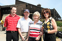 Brendan Gallagher, Michael Dockery, Ciara Dockery and Deirdre Byrne get ready to tee off at the Abacas Golf Classic in Seapoint Golf Club, Termonfeckin...Photo NEWSFILE/Jenny Matthews.(Photo credit should read Jenny Matthews/NEWSFILE)....This Picture has been sent you under the condtions enclosed by:.Newsfile Ltd..The Studio,.Millmount Abbey,.Drogheda,.Co Meath..Ireland..Tel: +353(0)41-9871240.Fax: +353(0)41-9871260.GSM: +353(0)86-2500958.email: pictures@newsfile.ie.www.newsfile.ie.FTP: 193.120.102.198.