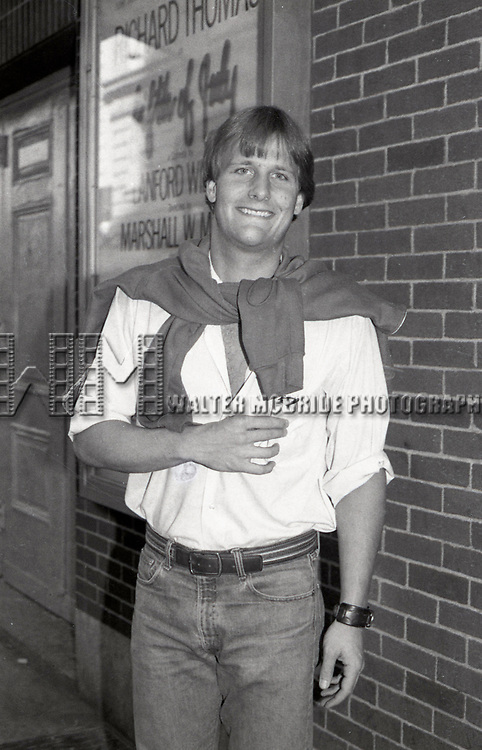 """Jeff Daniels after a performance in """"Fifth of July"""" on July 18, 1981 at The New Apollo Theatre in New York City."""
