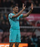 Newcastle United's Isaac Hayden <br /> <br /> Photographer David Horton/CameraSport<br /> <br /> The Premier League - Bournemouth v Newcastle United - Saturday 16th March 2019 - Vitality Stadium - Bournemouth<br /> <br /> World Copyright © 2019 CameraSport. All rights reserved. 43 Linden Ave. Countesthorpe. Leicester. England. LE8 5PG - Tel: +44 (0) 116 277 4147 - admin@camerasport.com - www.camerasport.com