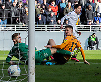 Leeds United's Pablo Hernandez scores his side's second goal <br /> <br /> Photographer Alex Dodd/CameraSport<br /> <br /> The EFL Sky Bet Championship - Hull City v Leeds United - Saturday 29th February 2020 - KCOM Stadium - Hull<br /> <br /> World Copyright © 2020 CameraSport. All rights reserved. 43 Linden Ave. Countesthorpe. Leicester. England. LE8 5PG - Tel: +44 (0) 116 277 4147 - admin@camerasport.com - www.camerasport.com