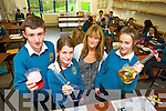 Pictured are first year students from Mercy Mounthawk Secondary School, Tralee, who are taking part in the Science quiz as part of Science Week, were l-r: Ronan Carey Ellen O'Brien Mary Enright (teacher) and Ciara Murphy.