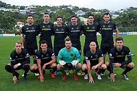 The Team Wellington starting XI for the 2019 OFC Champions League quarter final football match between Team Wellington and Henderson Eels at David Farrington Park in Wellington on Sunday, 7 April 2019. Photo: Dave Lintott / lintottphoto.co.nz