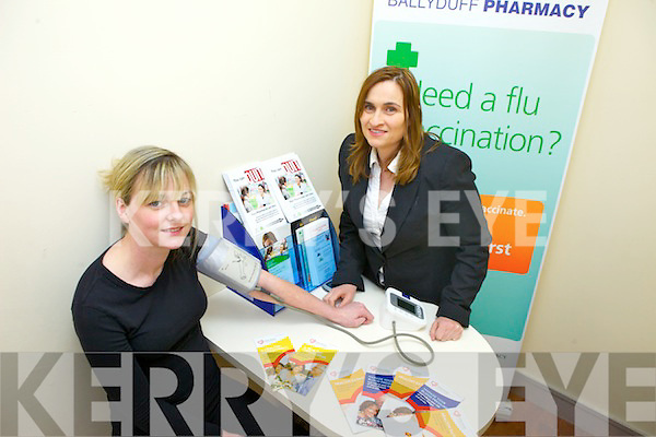 Katie McCabe with pharmacist Ann  Ballyduff Family Resource Centre will on March 27th hold a free health check as part of the next step in their Mental Health Awareness and Well-being project which recently won the AONTAS STAR Award in the Munster Category. Pictured were: Katie McCabe with pharmacist Ann Harty.