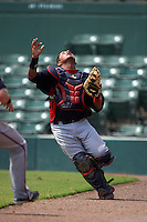 Minnesota Twins Robert Molina (40) during an instructional league game against the Baltimore Orioles on September 22, 2015 at Ed Smith Stadium in Sarasota, Florida.  (Mike Janes/Four Seam Images)