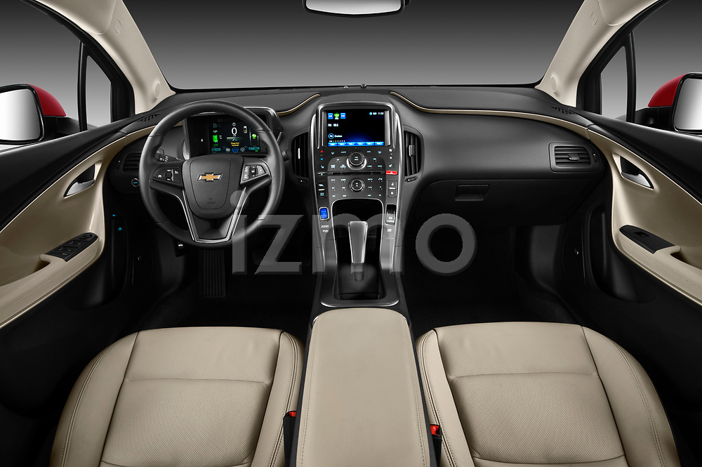 Straight dashboard view of a 2011 Chevrolet Volt